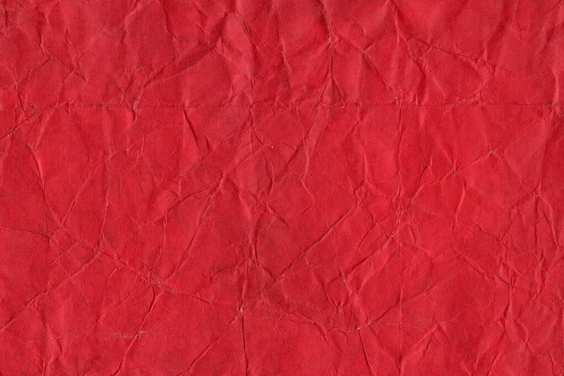 Crumpled Red Paper paper background
