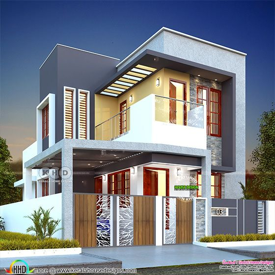 Modern contemporary home design by Shristi Home Designs