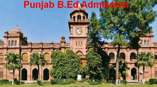 Punjab B.Ed Admission