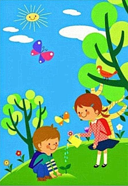 Los árboles de vida y los niños