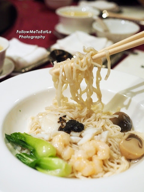 Shanghainese Seafood Noodles With Black Truffles