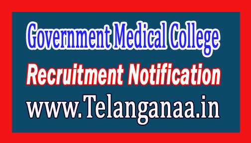 Government Medical College & Hospital GMCH Chandigarh Recruitment Notification 2017