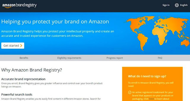 Страница регистрации собственного бреда на Amazon
