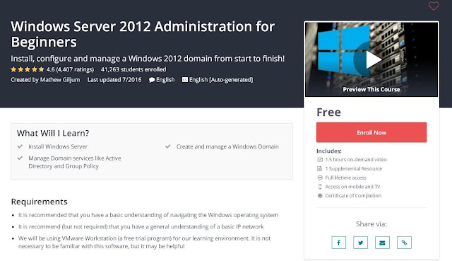 Windows Server 2012 Administration for Beginners