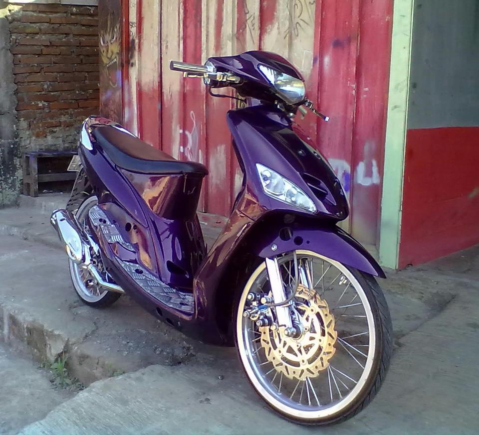 modifikasi mio warna ungu terkeren