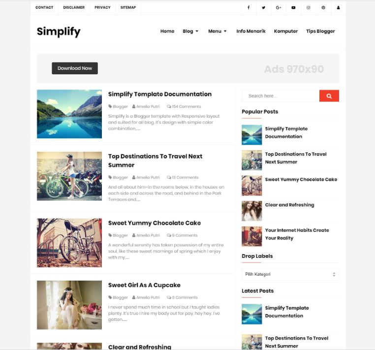 Simplify, responsive , SEO Friendly Blogger Template,Simplify responsive and SEO Friendly Blogger Template, problogger template