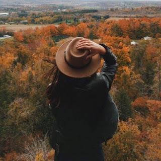 Travel girl looking nature views