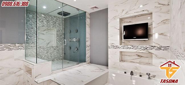 Thiết kế nhà tắm với không gian tiện nghi đầy đủ