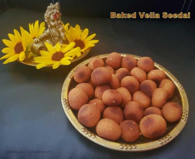 images of Baked Vellam Seedai / Baked Vella Seedai / Baked Sweet Seedai / Vella Seedai Baked / Baked Vellam Cheedai - Gokulashtami Recipe / Krishna Jayanthi Recipes