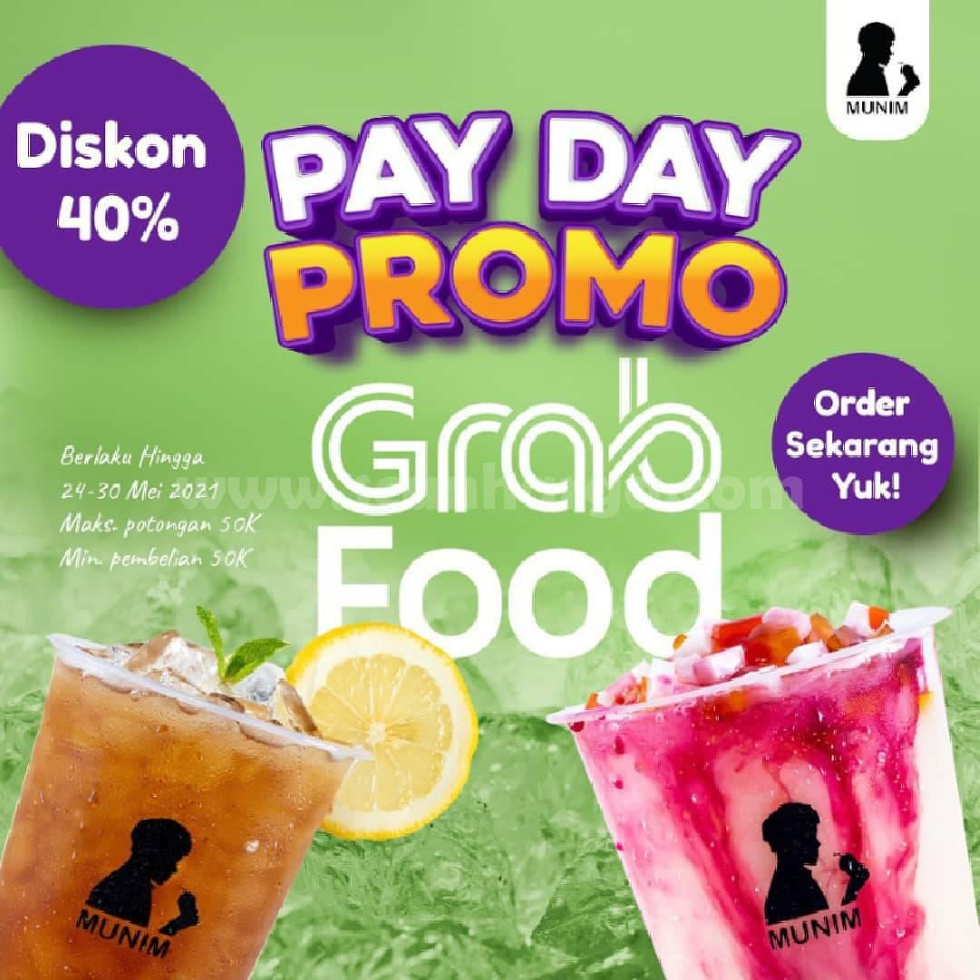 Promo MUNIM PAYDAY Diskon 40% melalui GRABFOOD