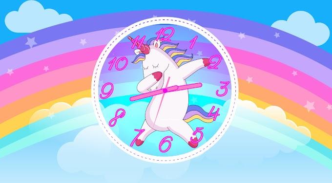 Free Clock Screensaver, Rainbow, Unicorn, Dabbing