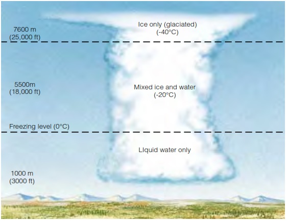 Distribusi muatan dalam awan cumulonimbus penyebab hujan es