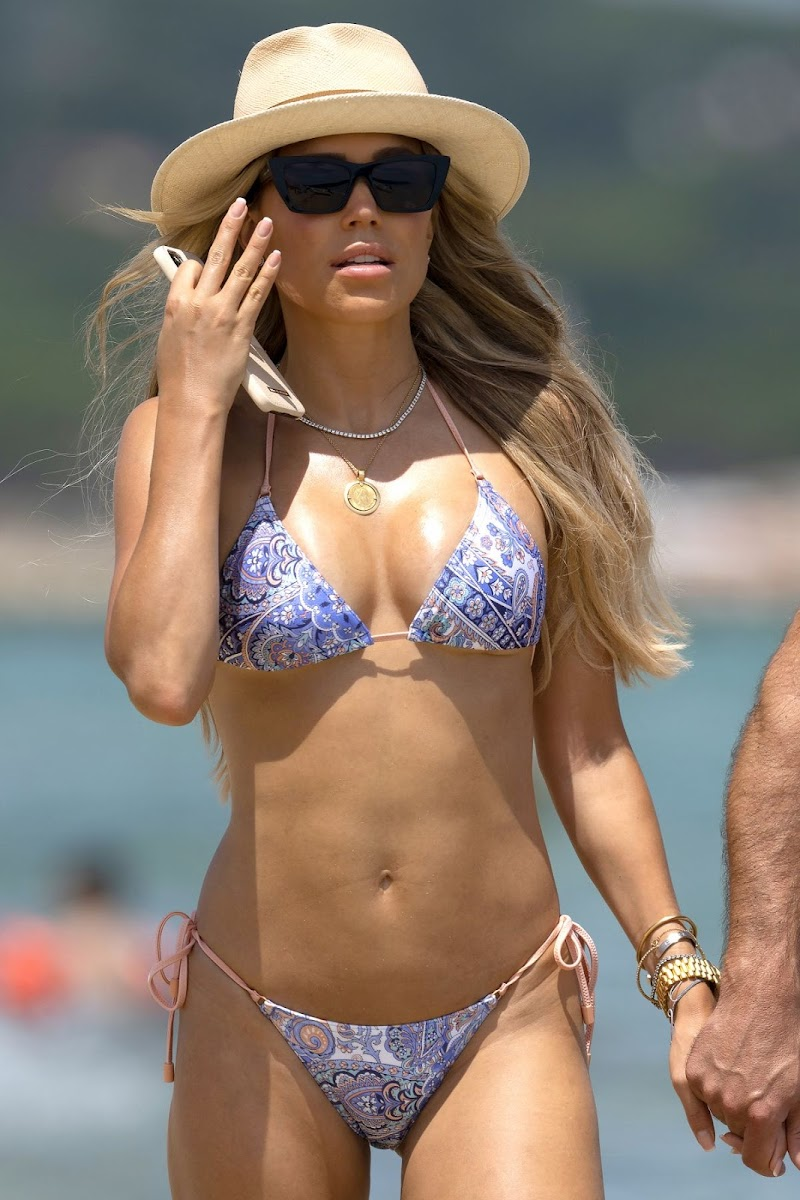 Sylvie Meis  in Bikini at a Beach 21 JUn -2020