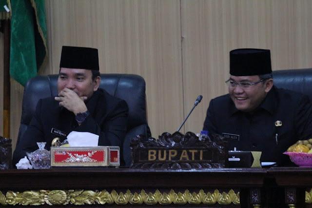Bupati Muba Sampaikan Jawaban Terhadap Pandangan Umum Fraksi-fraksi DPRD
