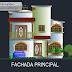 مشروع منزل صغير بواجهة رائعة اوتوكاد dwg