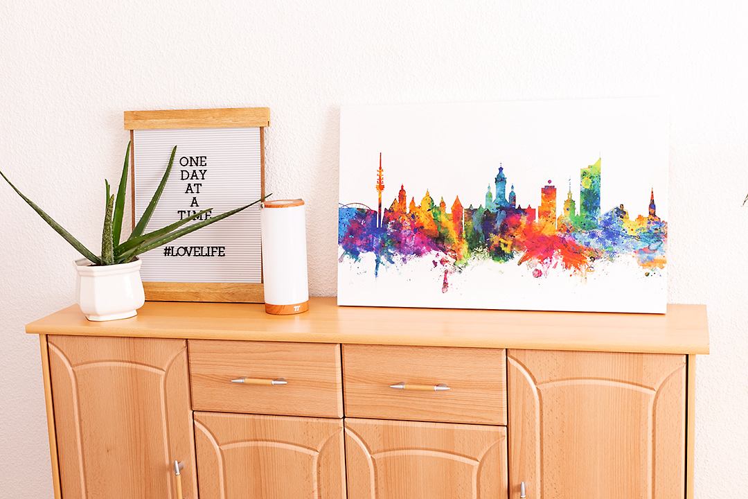 Save 25 % of your order from Photowall Fancy City Skyline Canvas Print Leipzig Sandra Dietrich mojosanti