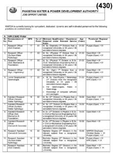 WAPDA Jobs August 2020 Latest advert form on-line is offered.