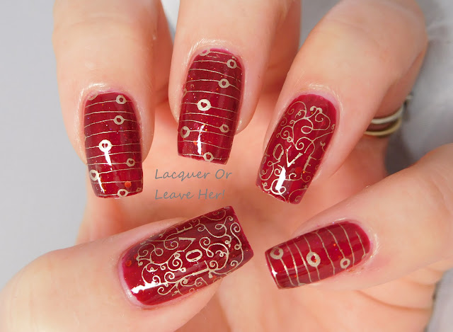 Potion Polish Cranberry Fizzy + UberChic Beauty Love and Marriage 02