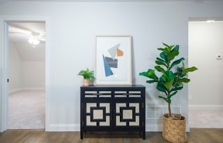 living room walls painted in Light blue decoration idea