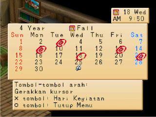 Hari Ulang Tahun para Penduduk Harvest Moon Back to Nature