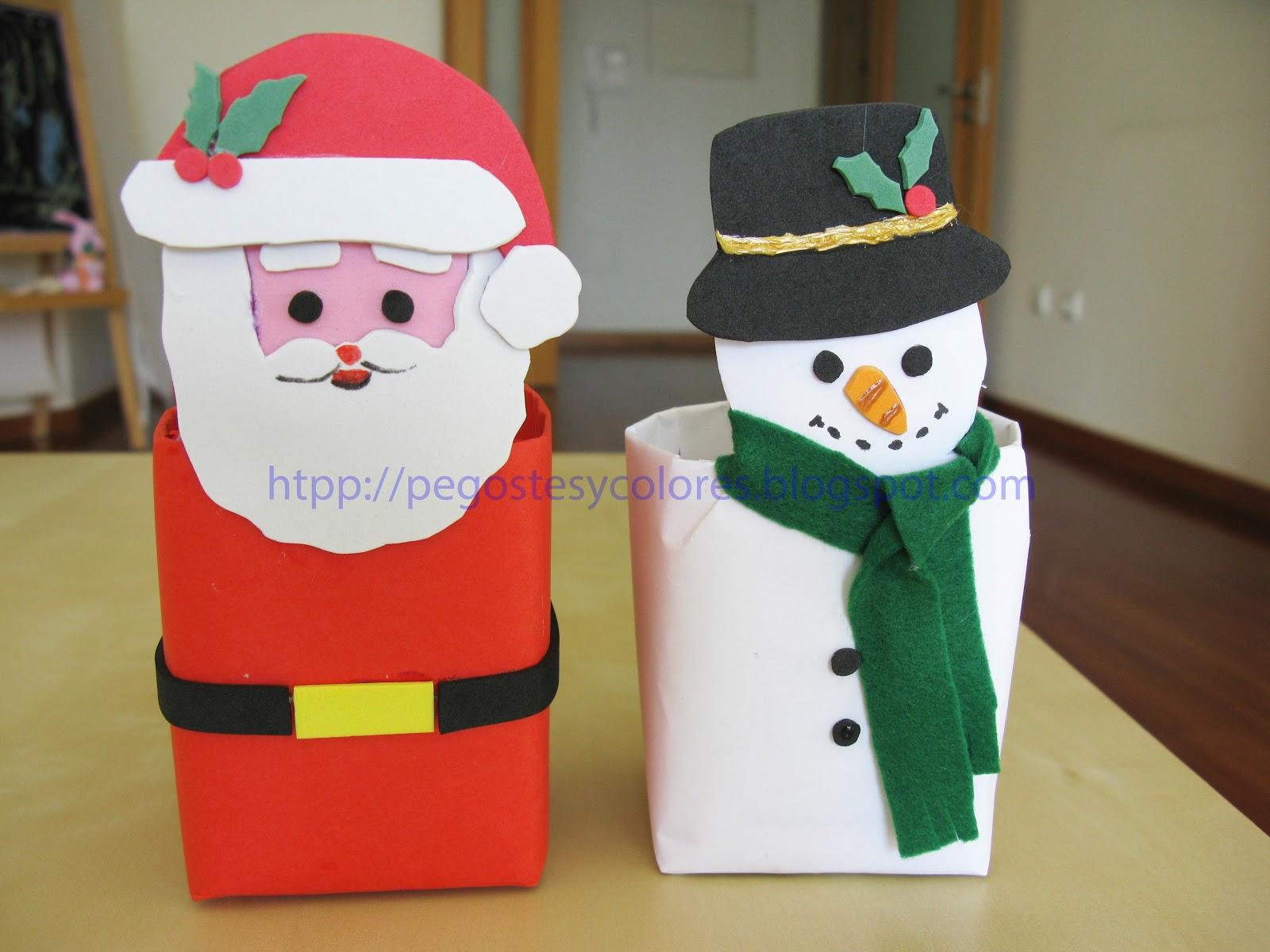 Pegostes y colores cajas para dulces de santa claus y - Como hacer color gris ...
