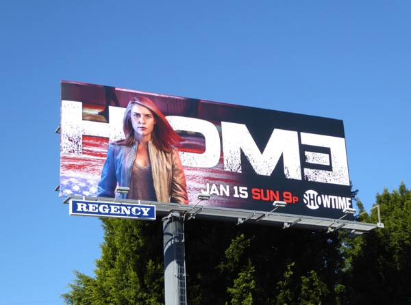 Claire Danes Homeland season 6 billboard