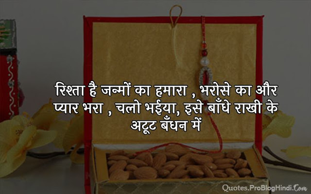 quotes on raksha bandhan for brother in hindi