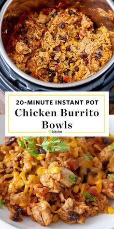 Recipe: Instant Pot Weeknight Chicken and Rice Burrito Bowls