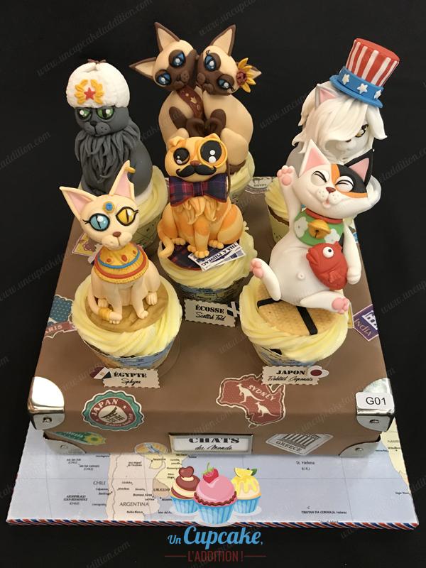 """Show Cake 2017 : Cupcakes """"Gatos del Mundo"""""""
