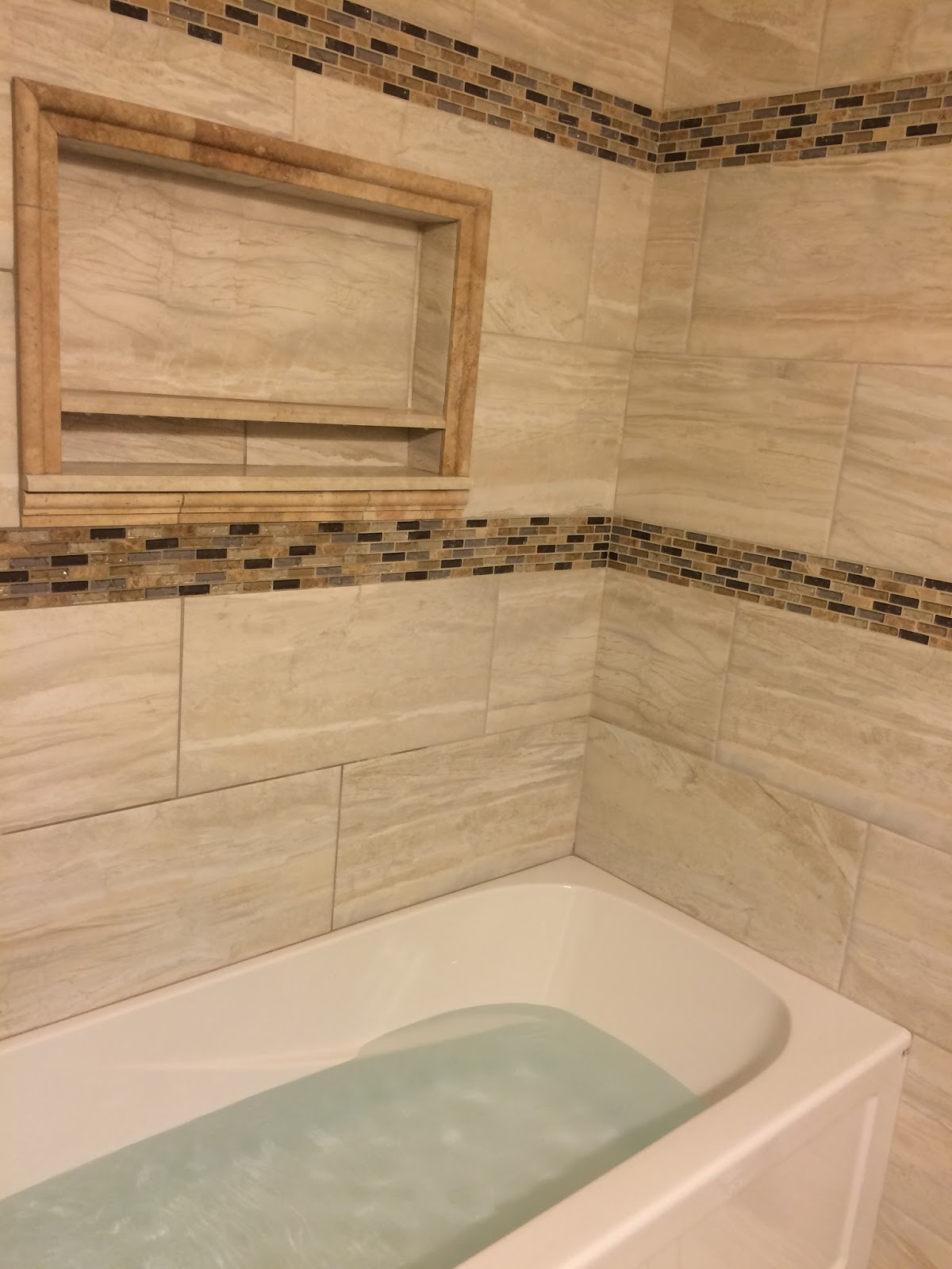Preferred Custom Bathroom Remodeling: Large Format Tile Install w/ Soaker  SP03