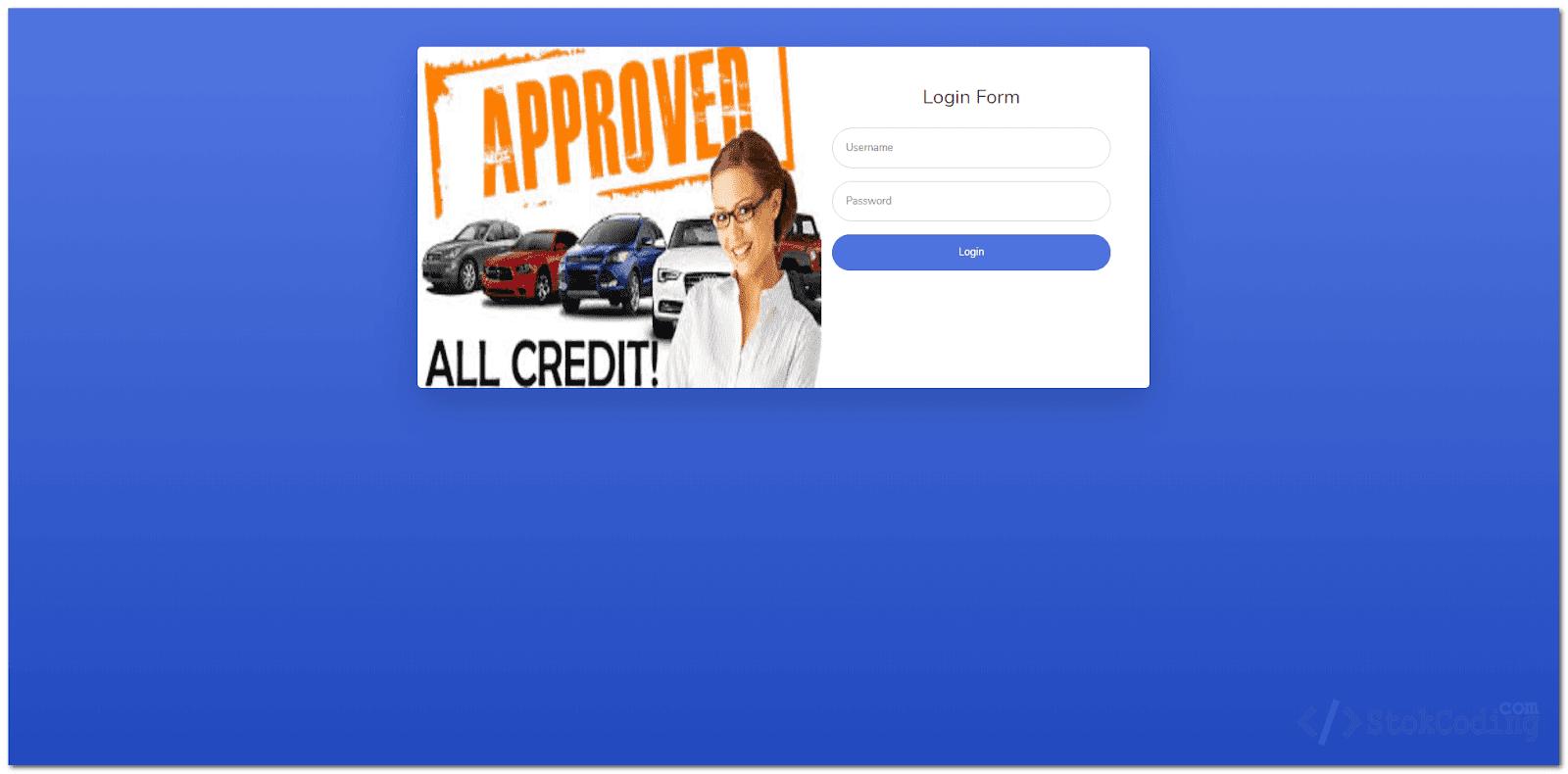 Aplikasi Kredit Kendaraan Berbasis Web (PHP)