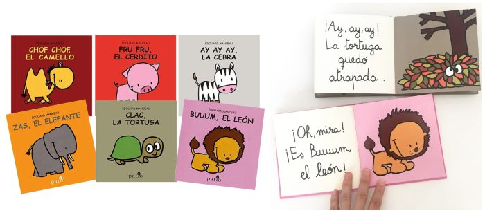 cuentos libros infantiles en letra ligada colección animalitos patio editorial