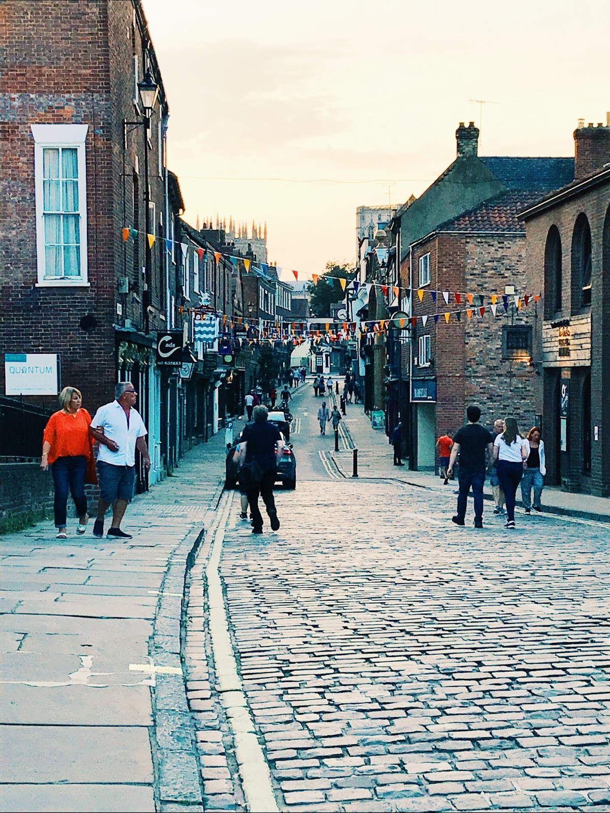 Streets of York in the evening
