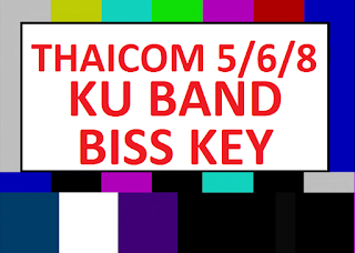 New Biss Key Satellite Thaicom 5/6/8 KU Band