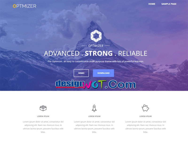 Optimizer Multi purpose WordPress Theme