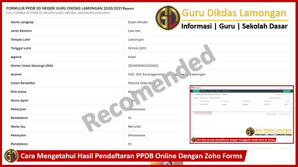 Cara Mengetahui Hasil Pendaftaran PPDB Online Dengan Zoho Forms