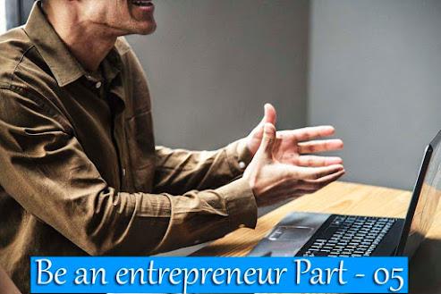 Be an entrepreneur
