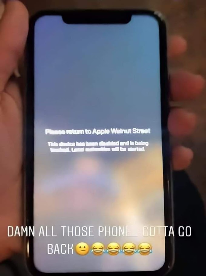 آبل تعطل هواتفها المسروقة وترسل رسائل من اجل اعادتها