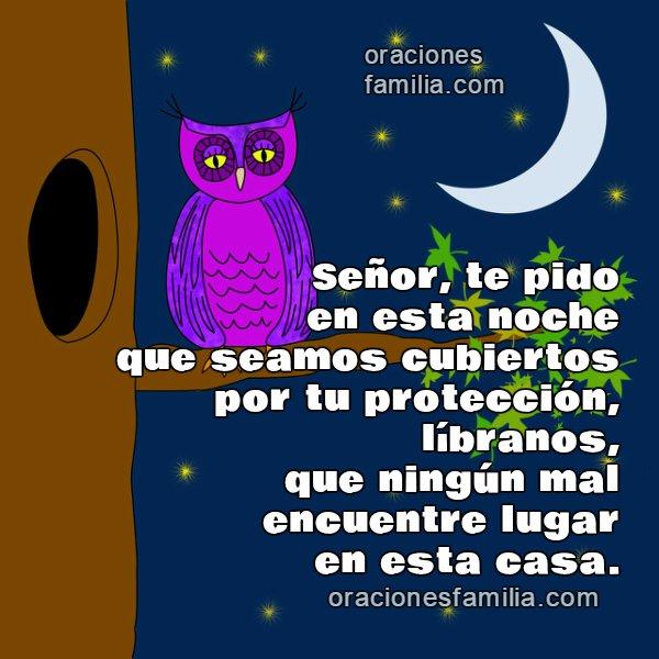 Oración Señor da proteccion en esta noche, buenas noches, Dios. Corta oración por Mery Bracho. Oraciones cristianas para que en la noche Dios nos cuide en casa.