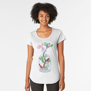 birds in a bottle premium scoop t-shirt