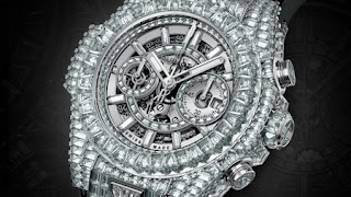 most expensive things owned by Mayweather - Hublot diamond watch