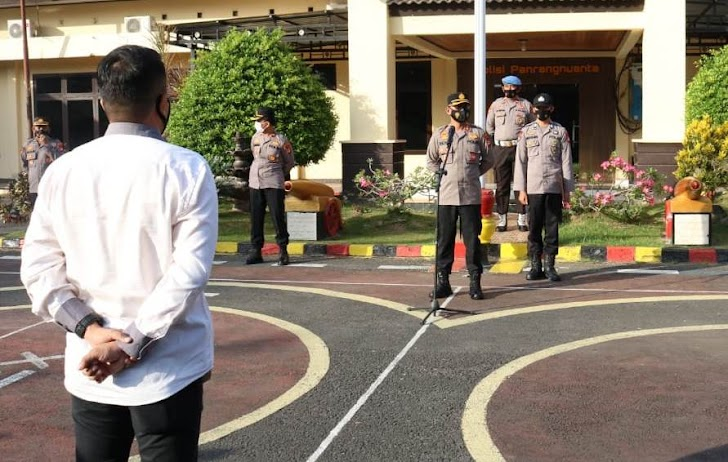 Kapolres Takalar, Ajak Seluruh Personel Aktif Dalam Menjaga Kamtibmas Wilayahnya