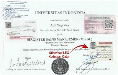 contoh legalisir ijazah Universitas