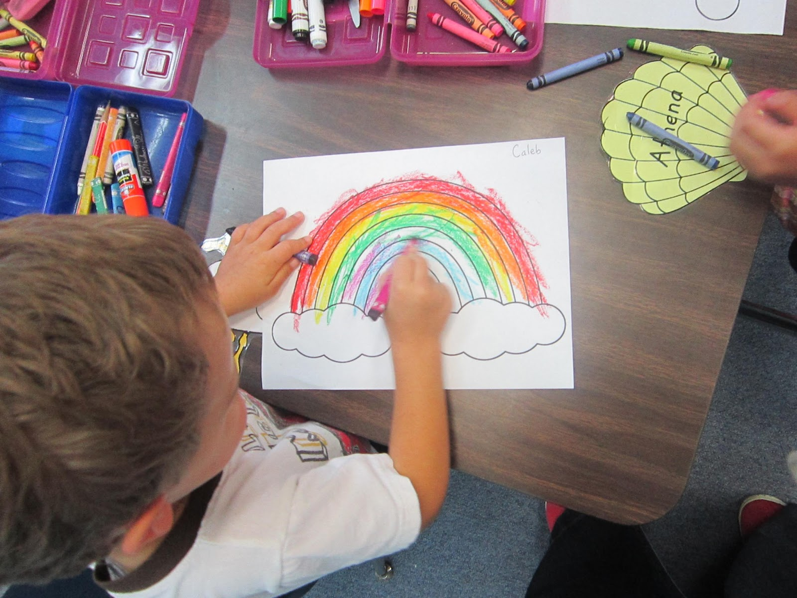 Miss Yellow Shoes Fruit Loop Rainbow Craft
