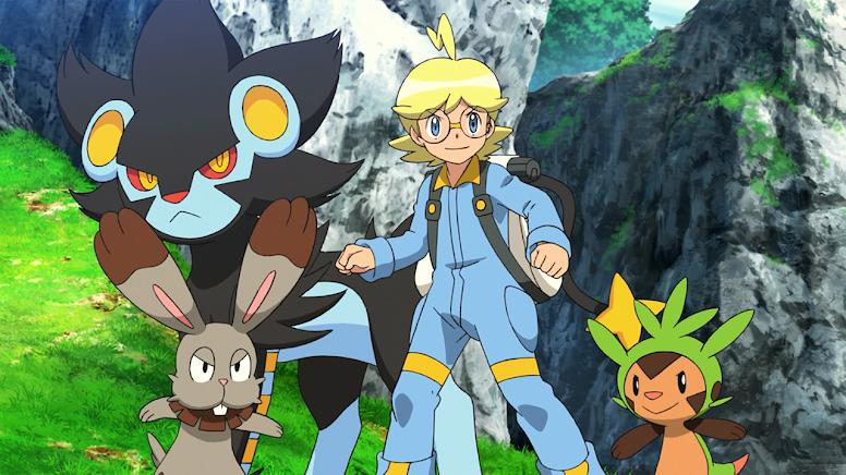 Clemont e seus Pokémon