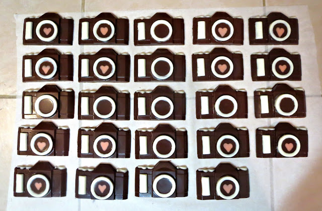 Chocolate Camera Candy Goodie Bag Favors - Overhead View