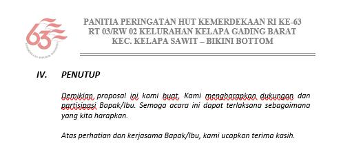 Proposal Penutup 17 Agustus