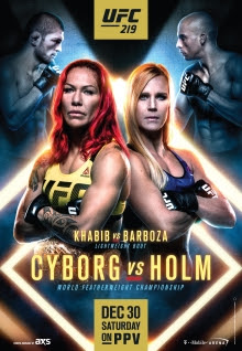 predictions for UFC 219 pay-per-view Cyborg vs Holm