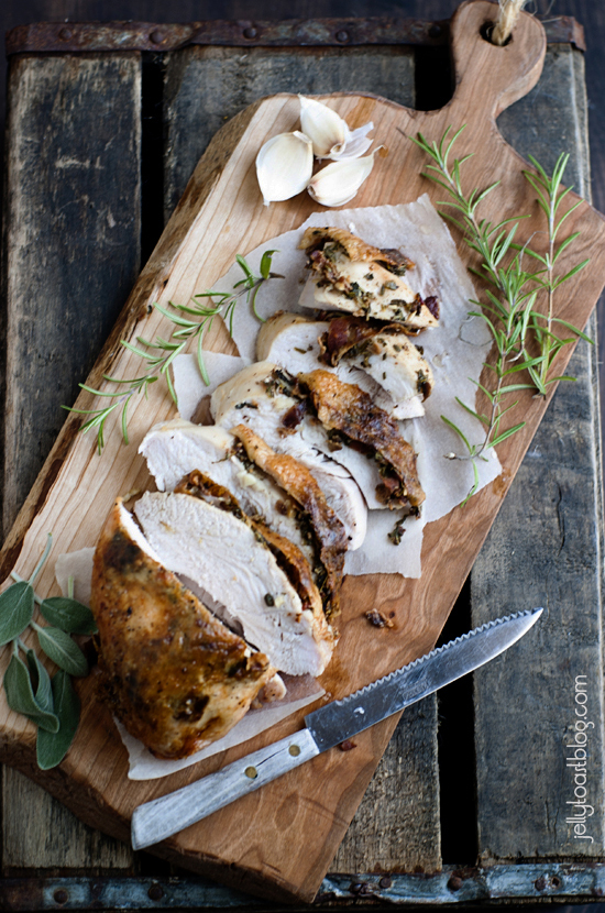 Roasted Turkey Breast with Bacon and Herbs | Thanksgiving Recipes to Please Everyone at Your Table