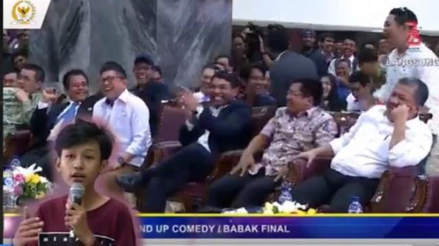 Buat Fahri Cs Terpingkal karena Stand Up Comedy Kritik DPR, Aji Pratama 'Minta Maaf'